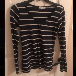 Forever21 blue and white striped shirt